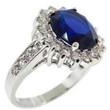 Blue Sapphire Cz Ring
