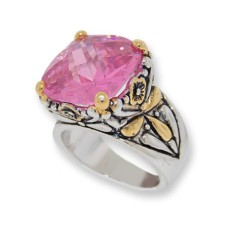 Designer Cable Jewelry Ring Pink