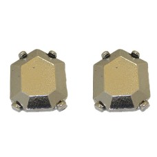 Square Designer Wholesale Earring in Antique Silver