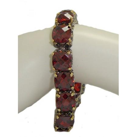 Designer Cable Jewelry Bracelet Garnet