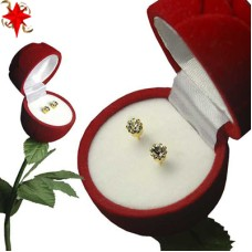 Rose Box Earrings white gold