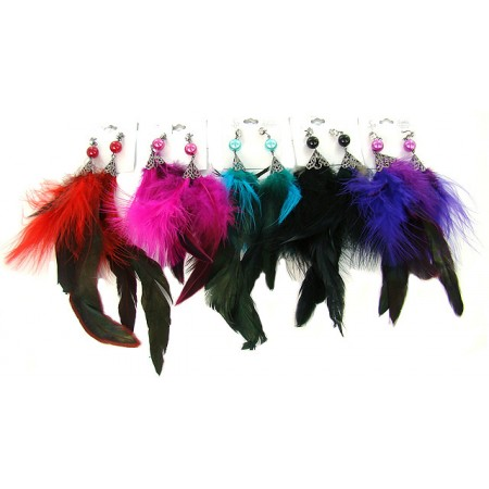 Feather Crown Earrings