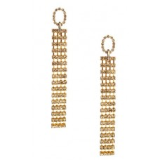 Dangle Eternity Wholesale Earring White Crystal Antique Gold