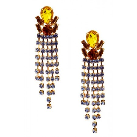 High End Dangle Earring set in Gold