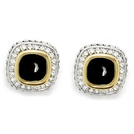 Designer Cable Eternity Earring Jet Black