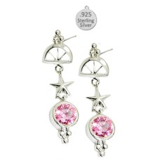 Sea Life Wholesale Earrings Pink Ice