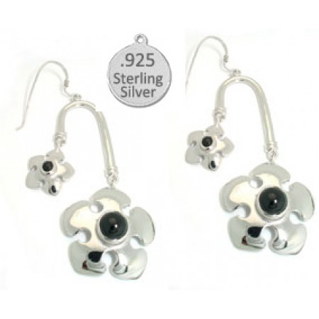 Black Onyx Stone Wholesale Earrings 925 Sterling Silver