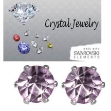 Light Amethyst 2 Carat Swarovski Crystal Stones White gold