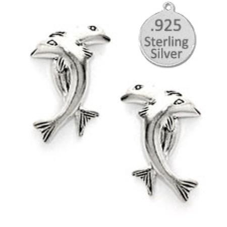 925 Sterling Silver Dolphin Earrings