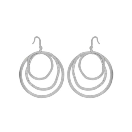 Brushed Silver Earring