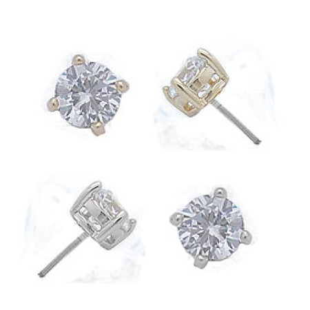 Cz Stud Yellow Gold Wholesale Earrings 3 mm buy wholesale