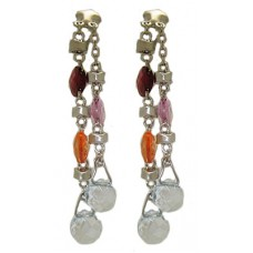 Multi colored crystal dangle earrings