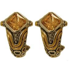 Champagne Austrian Crystal Designer Earring