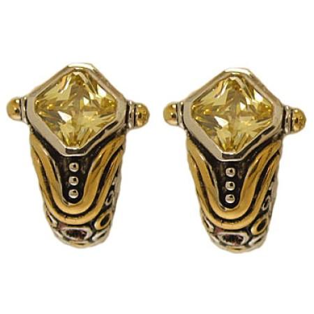 Citrene Designer Simulated Diamond Earring