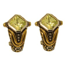 Peridot Wholesale Designer Simulated Diamond Earring