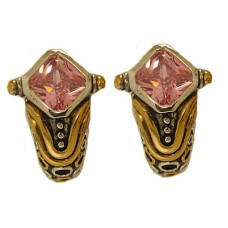 Pink Designer Simulated Diamond Earring
