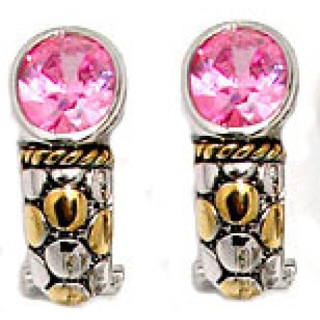 Pink Designer Cz Fashion Earring Special