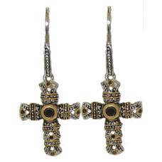 Jet Designer Cross Wholesale Earrings