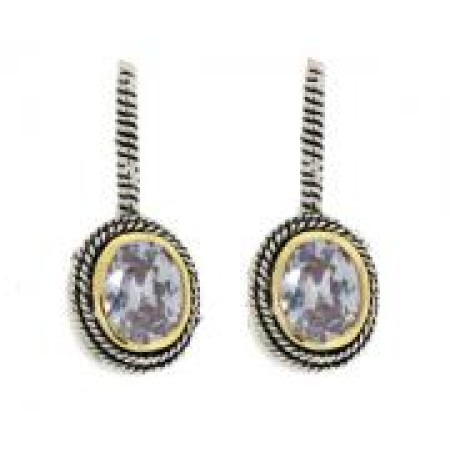 Double Cable Earring Lavender