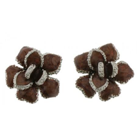 Brown Epoxy Earrings