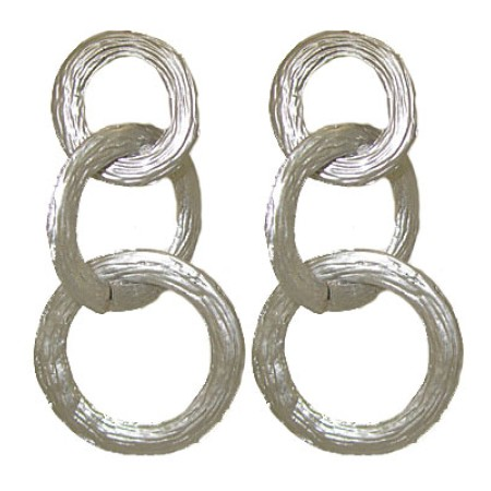 Silver post back earrings