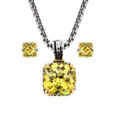 Designer Cable Jewelry 2 pcs Set in Citrene