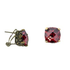 Designer Cable Jewelry Earring Garnet