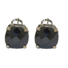 Designer Cable Jewelry Earring Jet Black