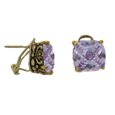 Designer Cable Jewelry Earring Lavender