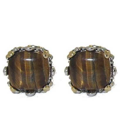 Designer Cable Jewelry Earring Tiger Eye