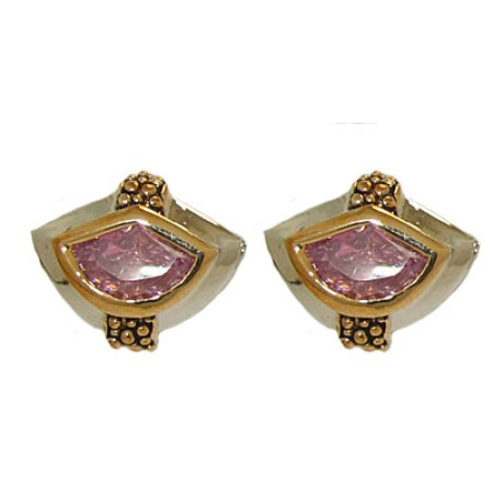 Designer Pink Cable Earrings