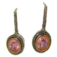 Double Cable Earring Pink