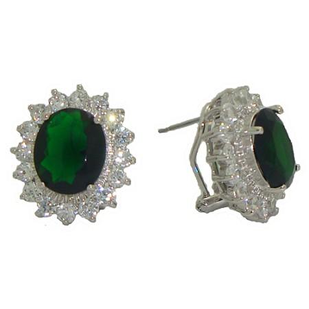Princess Kate And Princess Diana Wholesale Earrings Emerald