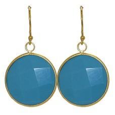 Designer Earring Dangle Turquoise