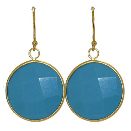 Designer Earring Dangle Turquoise