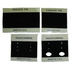 100 Fashion Pin and Earring Cards Wholesale Made in USA