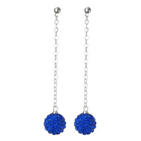 Fireball Pave Earring Sapphire Blue