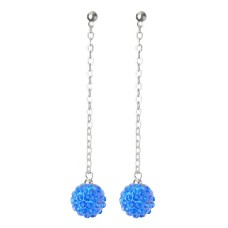 Fireball Pave Earring Teal