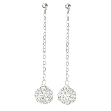 Fireball Pave Earring Clear White Diamond CZ