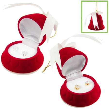 Gift Boxed 2 carat Wholesale Cubic Zirconia Stud Earrings white gold