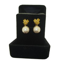 Pink Pearl French Knot Earrings Boxed
