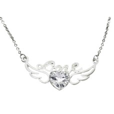 Crystal Clear Love with wing necklaces