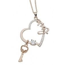 Yellow Gold Key to my heart necklace