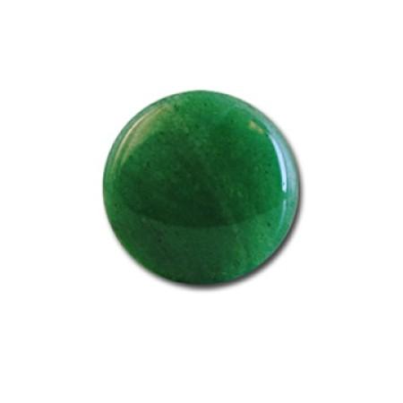 3 - 18 mm Round Flat Back Malachite Stone