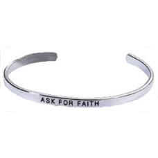 Silver Faith Cuff wholesale Bracelet