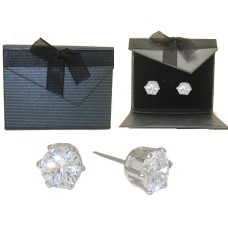 White Gold Shaped Earrings Fabulous CZ
