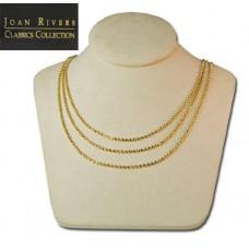 Joan Rivers Three Strand Necklace Stunning gold tone bib