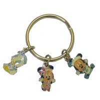 Disney Key Ring Minnie Mouse, Mickey Mouse And Donald Duck