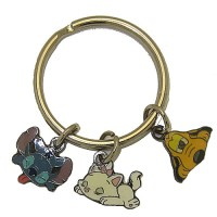 Disney Key Rings Pluto, Stitch And Marie