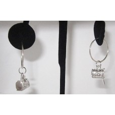925 Sterling Silver Mail Box Wholesale Charm Earring